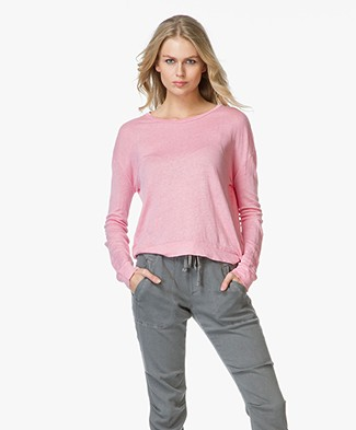 Majestic Linen Long Sleeved T-shirt