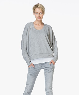 T by Alexander Wang French Terry Sweatshirt - Grijs Mêlee