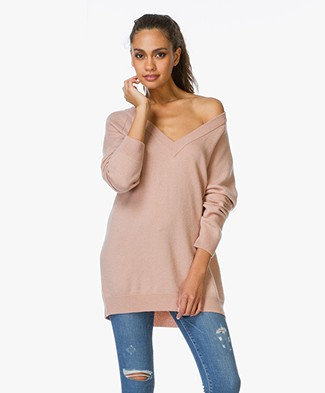 T by Alexander Wang Cashwool Deep V-Neck Sweater