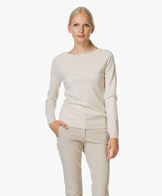 Repeat Cashmere Trui met Boothals