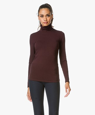 Majestic Jersey Turtle Neck Pullover