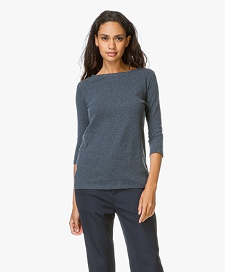 Majestic Cotton and Cashmere T-shirt