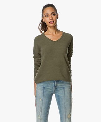 Denham Feather Cotton Fleece Sweater - Rifle Green