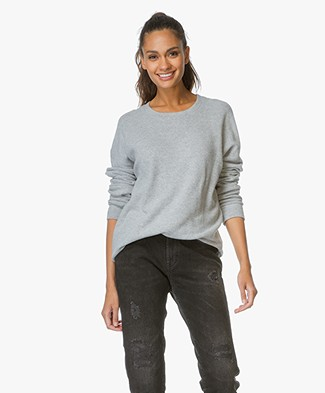 Denham Sweater Emmanuella Cotton Fleece - Stone Grey