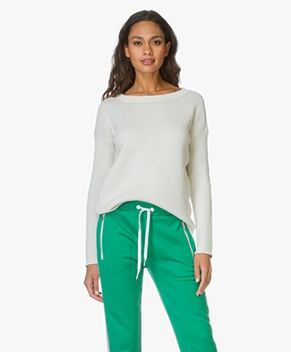 Theory Cotton Slouchy Pullover Karenia - Ivory