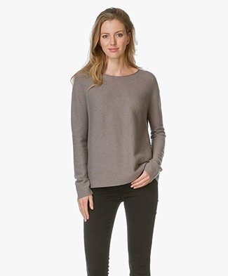 Drykorn Sweater Milly in Cashmere Blend - Taupe