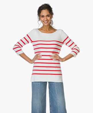Josephine & Co Striped Sweater Emmet - Stripe Red/Off-white
