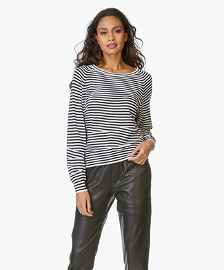 Zadig et Voltaire Striped Sweater Camille - Ecru/Black