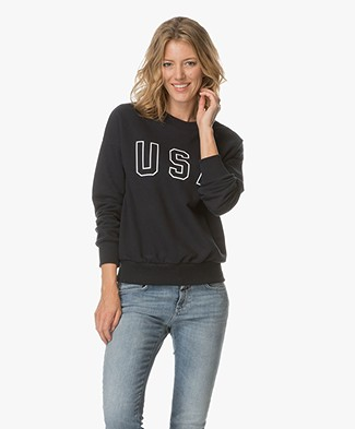 Anine Bing USA Sweatshirt - Navy
