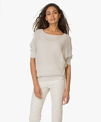 BRAEZ Open Knitted Sweater - Chalk