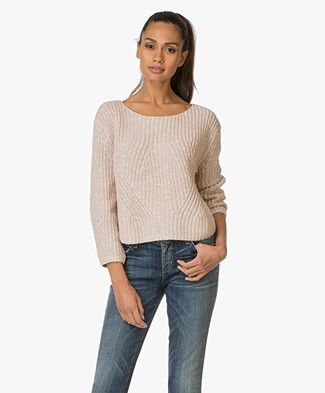 Repeat Knitted Pullover in Cotton Blend - Shell