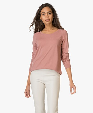 Sibin/Linnebjerg Lena Cut-out Pullover - Dusty Rose