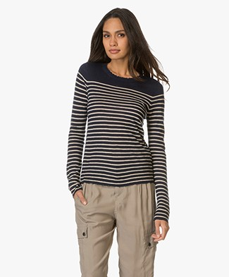 Zadig et Voltaire Miss Striped Cashmere Sweater - Encre