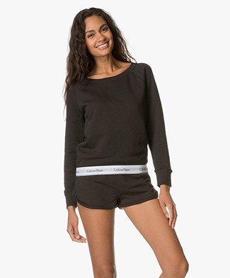 Calvin Klein Modern Cotton Sweater - Black