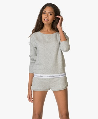 Calvin Klein Modern Cotton Sweatshirt - Light Grey