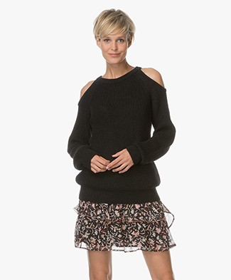 IRO Lineisy Cold Shoulder Sweater - Black