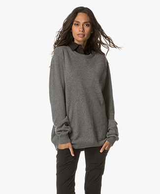 extreme cashmere n°36 Be Classic Cashmere Trui - New Grey
