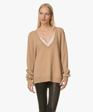 Extreme Cashmere Be Low V-hals Trui - Camel