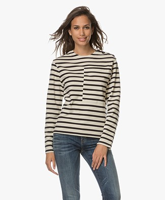Joseph Breton Striped Sweater - Cream/Dark Blue