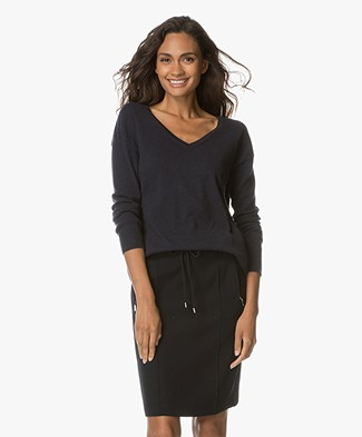 Closed  Cashmere V-neck Pullover - Navy