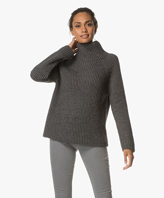 Drykorn Arwen Rib Turtleneck Sweater - Dark Grey