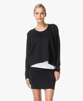 T by Alexander Wang Soft French Terry Sweatshirt - Black