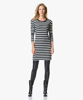 Velvet Abelia Jersey Striped Sweater Dress