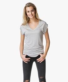 Joseph Basic V-Hals T-Shirt - Oatmeal