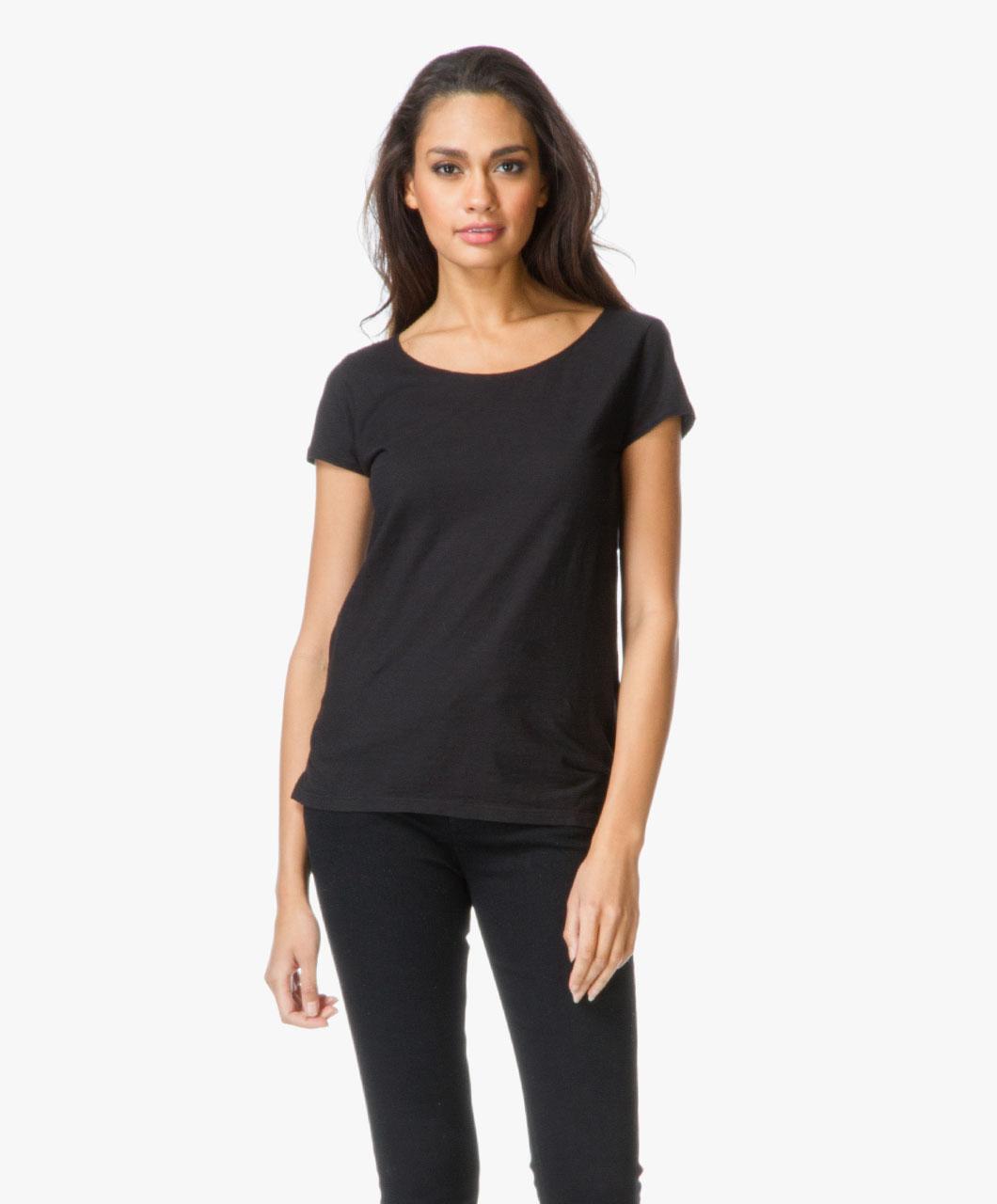 drykorn cotton aviva t shirt black aviva 506100 1000. Black Bedroom Furniture Sets. Home Design Ideas