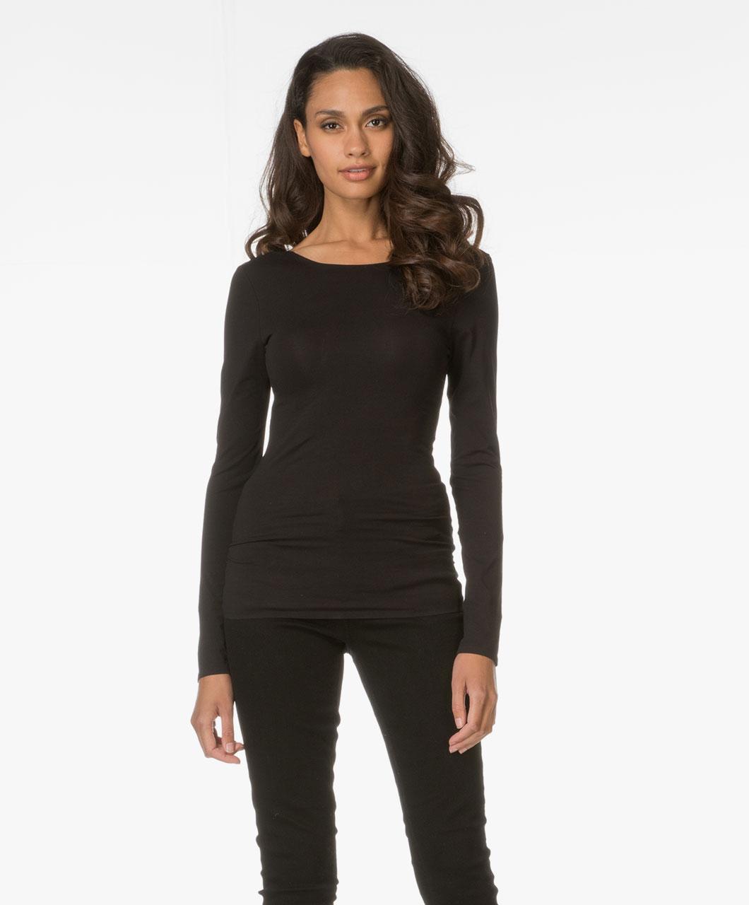 drykorn arina low back t shirt black arina 507100 1000. Black Bedroom Furniture Sets. Home Design Ideas