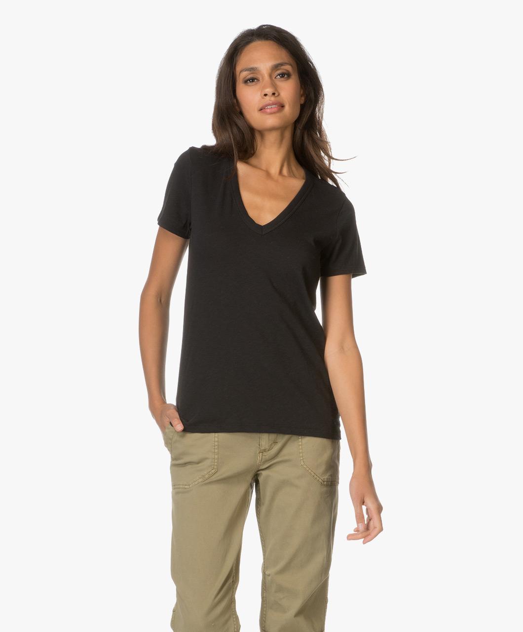 0a364b6a468f Rag & Bone / Jean The Vee T-shirt - Black - the vee | w272c34ch
