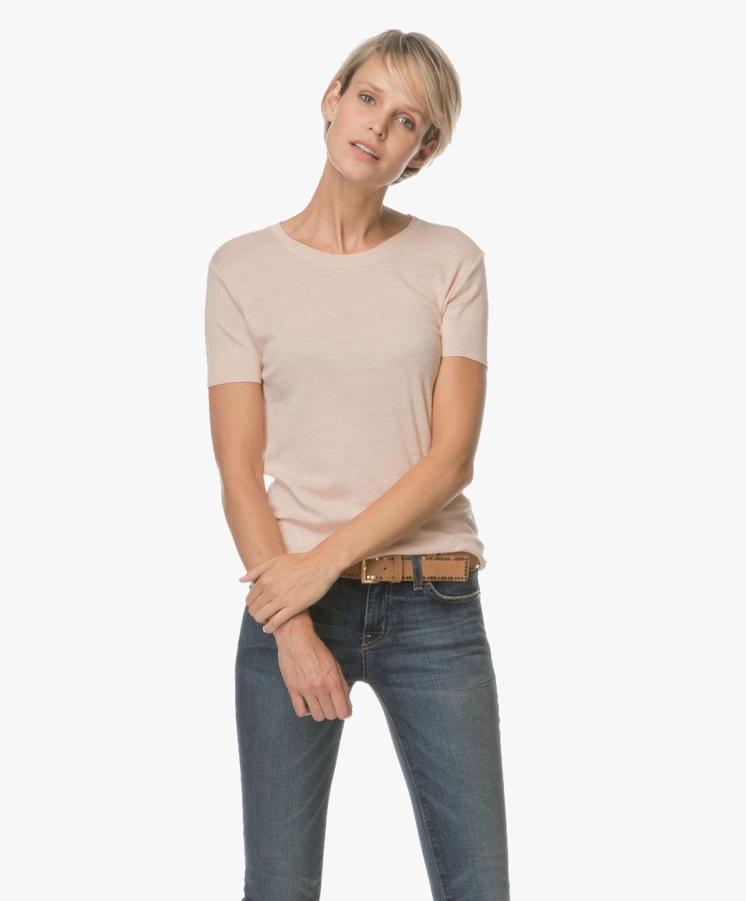 Majestic Cashmeremix T Shirt Rose Nepal H17 05 19 851