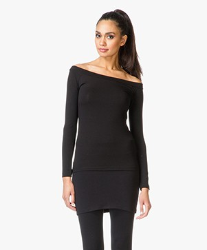 Baukjen Off-shoulder Top Ashby - Caviar Black