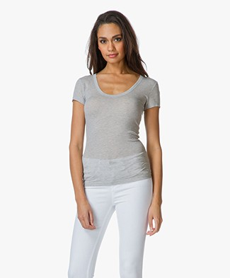 T by Alexander Wang Cashmere Jersey T-shirt  - Heather Grey