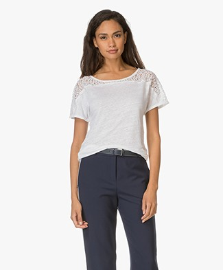 Belluna Pisano T-Shirt with Lace - Off-white