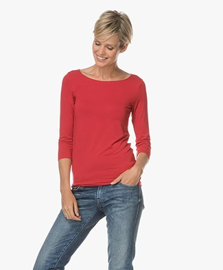 Majestic Soft Touch Jersey T-shirt - Rood