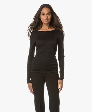 Drykorn Arina Lurex Long Sleeve - Black