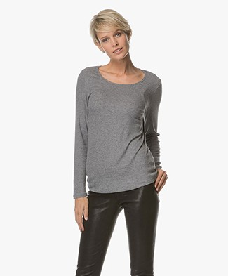 Repeat Knitted Long Sleeve - Light Grey