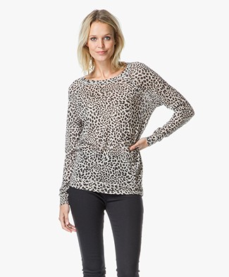 Majestic Top with Leopard Print