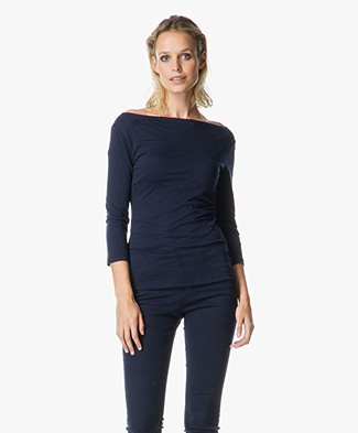 Velvet Aileen Boat Neck Top in Gauzy Whisper Jersey
