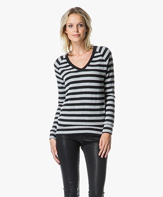 Velvet Urbana Stripe Sweater in Cozy Jersey