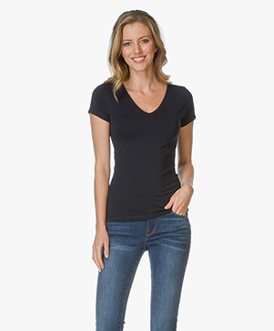Filippa K Fine Lycra V-neck Top
