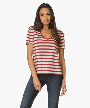 Drykorn Ailin Striped Linen T-shirt