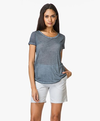 Majestic Silk T-Shirt with Round Neck