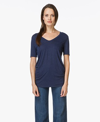 T by Alexander Wang Classic Tee with Pocket - Marine Mêlee