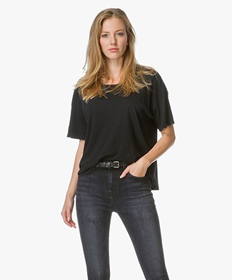 Current/Elliott The Roadie Tee - Washed Black