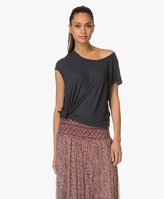 James Perse Circular Shell Katoenen T-shirt - Deep