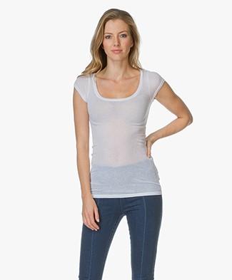 American Vintage T-shirt Massachusetts - White daf6babdae1