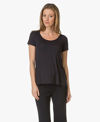 Majestic R-neck T-shirt in Viscose Jersey