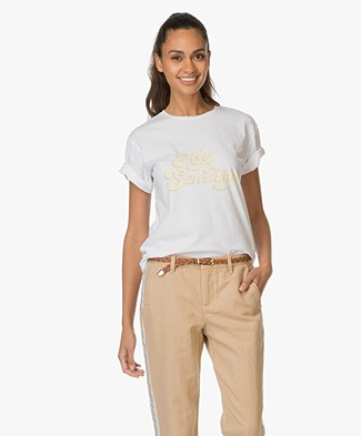 Anine Bing Hey Sunshine T-Shirt - Vintage White